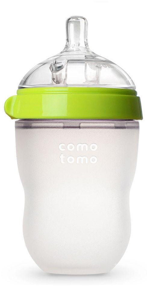 Comotomo Natural Feel Sutteflaske 250ml, Grøn