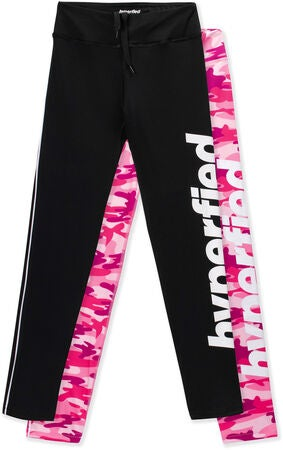 Hyperfied Track Tights 2-pak, Black/Camo Pink