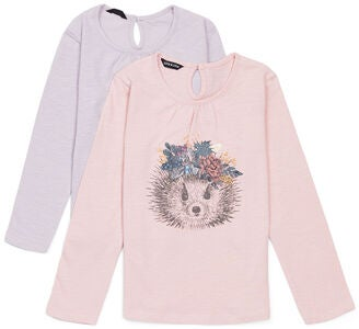 Luca & Lola Martina Bluse 2-pak, Light Pink