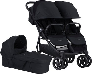 Crescent Duo Lightway Søskendevogn, Black
