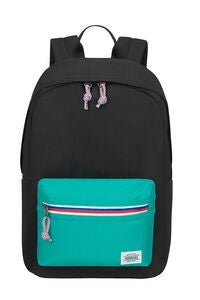 American Tourister Upbeat Zip Rygsæk 19.5L, Black/Turquoise