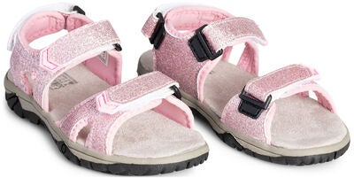 Little Champs Race Glitter Sandaler, Pink