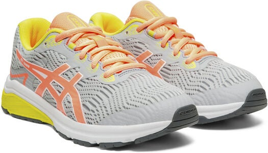 Asics GT-1000 8 GS Sneakers, Piedmont Grey/Sun Coral