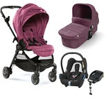 Baby Jogger City Tour Lux Duovagn + Maxi-Cosi Cabriofix Travel System, Rosewood