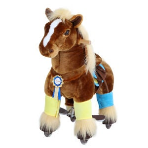 PonyCycle Ride-On Hest Premium, Brun
