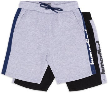 Hyperfied Turn Shorts 2-pak, Black/Grey Melange