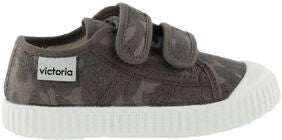 Victoria Basket Lona Camuflage Sneakers, Antracit