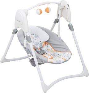 Graco Skråstol m. Gynge Slim Spaces Linus