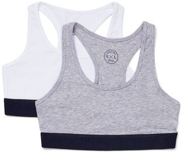 Luca & Lola Monica Top 2-pak, Grey/White