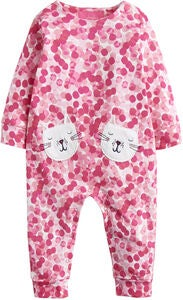 Tom Joule Applique Heldragt, Pink Spot Cat