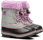 Sorel Youth Pac Nylon Vinterstøvler, Chrome Grey/Orchid