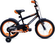 Pinepeak Børnecykel 16 tommer Aiden, Sort/Orange
