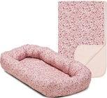 Alice & Fox Babynest Flowers Med Alice & Fox Tæppe Flowers, Pink