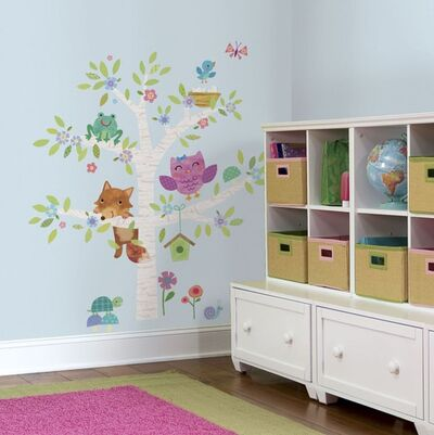 RoomMates Wallstickers Woodland Baby Tree
