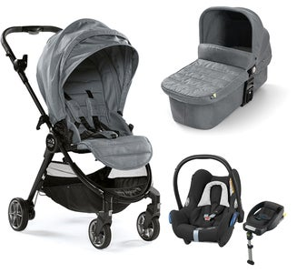 Baby Jogger City Tour Lux Duovogn+ Maxi-Cosi Cabriofix Travel System, Slate