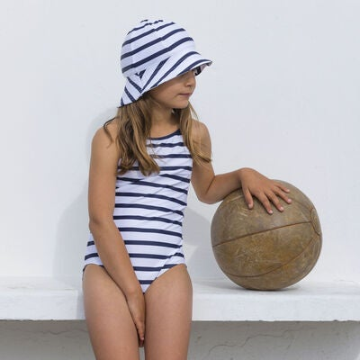 05093175468 Køb Petit Crabe Barbara Badedragt, White/Blue | Jollyroom