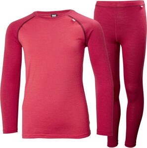 Helly Hansen JR Lifa Merino Mid Skiundertøj, Persian Red