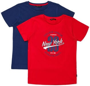 Luca & Lola Riccione T-Shirt 2-pack, Red/Navy