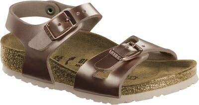 Birkenstock Rio Kids Sandaler, Electric Metallic Copper
