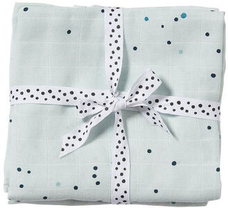Done By Deer Stofble Dreamy Dots 120x120 2-pak, Blue