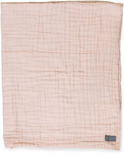 Tæppe Layered Muslin EKO Dusty Rose