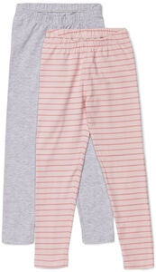 Luca & Lola Agata Leggings 2-pak, Grey Melange/Stripes