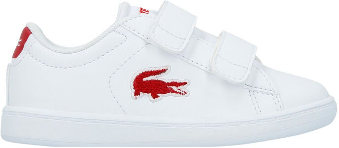 Lacoste Carnaby Evo 318 Sneakers, White/Red