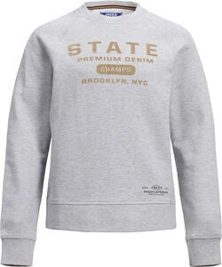 Jack & Jones Vincent Crewneck Trøje, Light Grey Melange