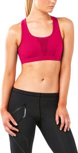 2XU X-Vent Crop Sport-BH, Virtual Pink/Mountain View