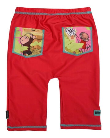 Swimpy UV-Shorts Alfons Åberg, Rød