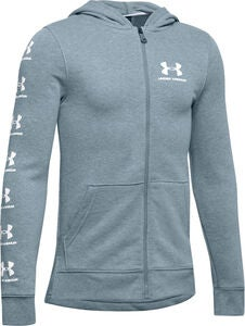 Under Armour Rival Full Zip Hoodie, Stealth Gray