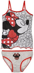 Disney Minnie Mouse Undertøj Sæt, Light Grey