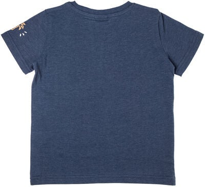 Rip Curl Wavey Groms SS Tee T-shirt, Blue Washed Mar