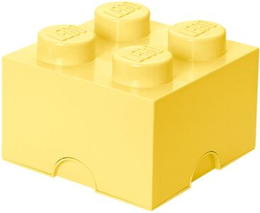 LEGO Opbevaringskasse 4, Design Collection, Cool Yellow