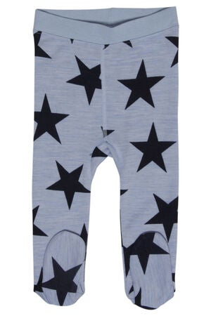 Hust & Claire Baby Uldleggings m. Fod Blue Dawn