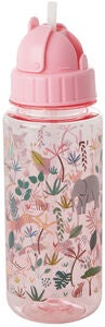 Rice Vandflaske Jungle Animals, Pink