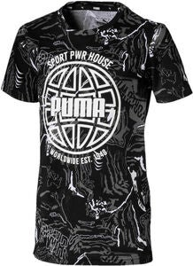 Puma Alpha Aop T-Shirt, Black