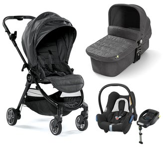 Baby Jogger City Tour Lux Duovogn + Maxi-Cosi Cabriofix Travel System, Granite