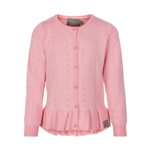 Creamie Pointelle Cardigan, Pink Icing