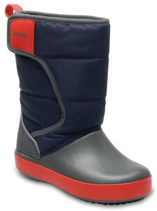 Crocs Kids LodgePoint Snow Boot, Navy/Slate Grey