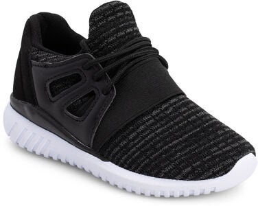 Little Champs Sneakers, Black/D. Grey