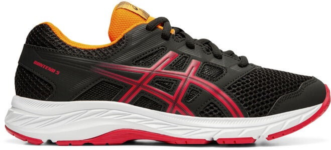 Asics Contend 5 GS Sneakers, Black/Speed Red