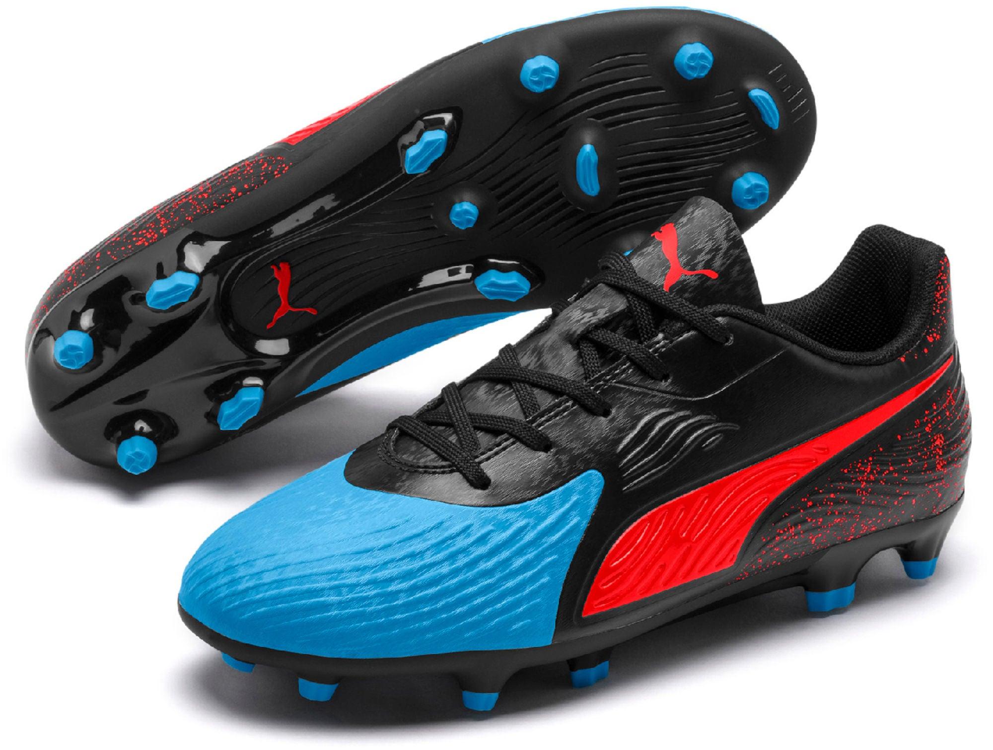 Køb Puma ONE 19.4 JR FGAG Fodboldstøvler, BlueRed | Jollyroom