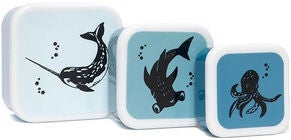 Petit Monkey Lunchbox Sea Animals 3-pak