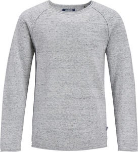 Jack & Jones Union Crewneck Trøje, Light Grey Melange