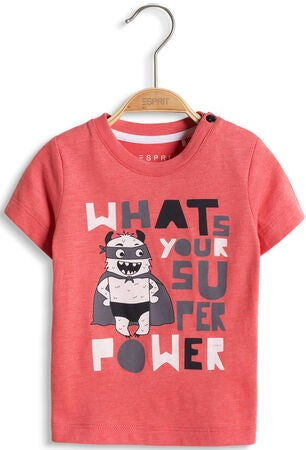 ESPRIT T-Shirt Super Power, Coral Red