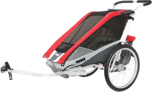 Thule Chariot Cougar 1 Red inkl. Cykel-kit