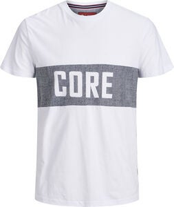 Jack & Jones Poul Crewneck T-Shirt, White