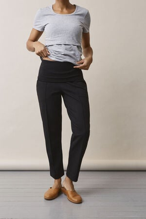 Boob OONO Cropped Slacks, Black