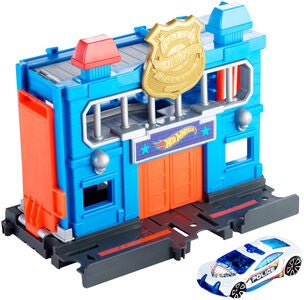 Hot Wheels City Downtown Legesæt Police Station Breakout